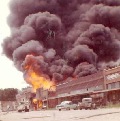 The July 2, 1963 fire in DuBois captured by Anna Lang.